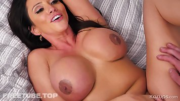 Ariella Ferrera is a big titted brunette who likes to have sex with random guys